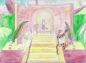 Hail King Piglet by MellowSunPanther