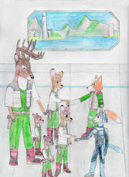 Bambi and his Family join Star Fox by MellowSunPanther