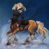 Centaur girl by Owlet-in-chest