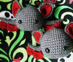 More Baby Bats by voodoomaggie