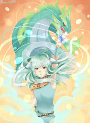 Ninian and her dragon form by pumvilla
