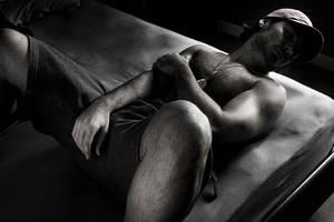 self portrait in bed by quemas
