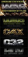 War Photoshop Layer Styles by Industrykidz