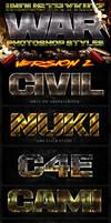 War Photoshop Layer Styles V2 by Industrykidz