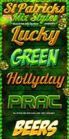 St Patricks Day Photoshop Styles and Web Flyer by Industrykidz