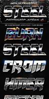 Steel Photoshop Layers Styles V1 by Industrykidz