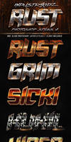 Rust Photoshop Layer Styles v1 by Industrykidz