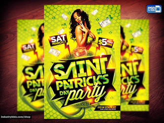 St Patricks Flyer Template by Industrykidz