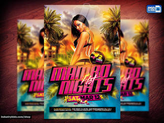 Latin Night Psd Flyer by Industrykidz
