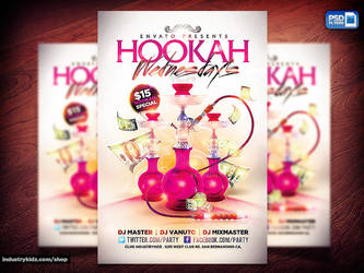 Hookah Lounge PSD FLYER by Industrykidz