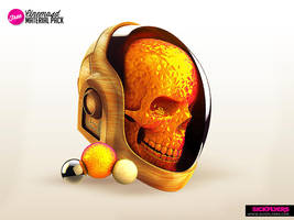 Daft Punk Skull Free material pack by Industrykidz