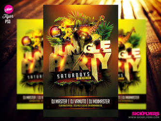Jungle Party Flyer Template by Industrykidz