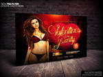 Valentines Party Horizontal Flyer Template by Industrykidz