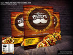 Mexican Restaurant Menu Template PSD by Industrykidz