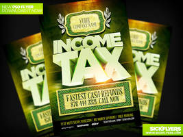 Income Tax Flyer Template V2 PSD by Industrykidz