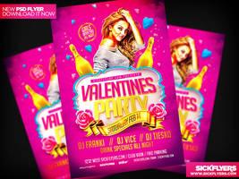 Valentines Flyer Template by Industrykidz