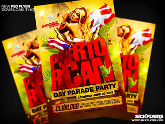Puerto Rican Flyer Template PSD by Industrykidz