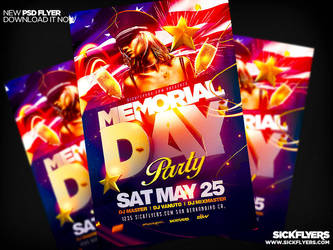 Memorial Day Flyer Template by Industrykidz