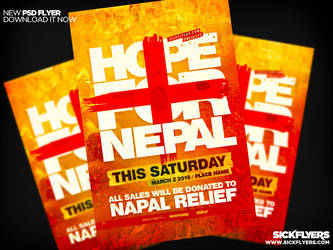 Nepal Earthquake Relief  Flyer by Industrykidz