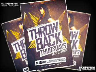 Throwback Thursdays Flyer by Industrykidz