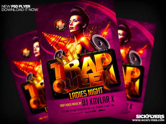 Trap Queen Flyer Template PSD by Industrykidz
