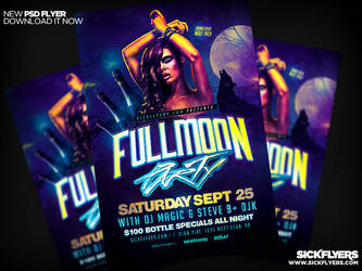 Fullmoon Party Flyer Template PSD by Industrykidz