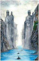 Gates Of Argonath by vinigal123