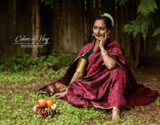 Radha waiting for Krishna in Kunjavan by vinigal123