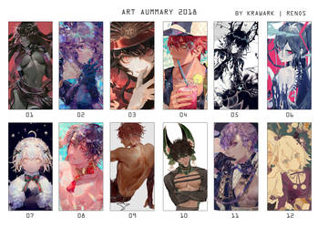 2018 Art summary by Krawark