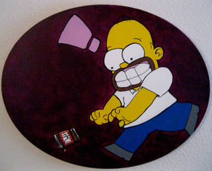 Homer Simpson by ZOMBIE-BUNNY13