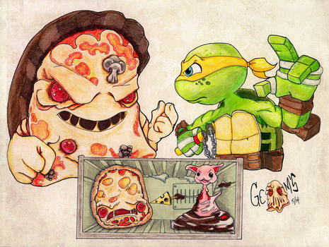 Pizza Face or Mikey by v-Germs-v