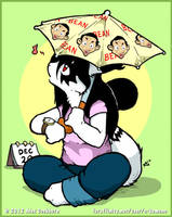 Anti Doomsday Mr. Bean Umbrella by o-kemono