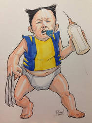 Baby Wolverine by KieronOGorman