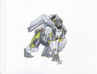 Winston Overwatch by KieronOGorman