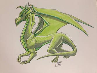 Green Dragon by KieronOGorman