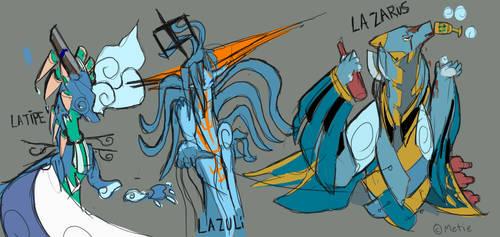 Zeconia Cobalts : Exageration Sketch by Metie