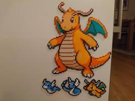 Pokemon #25 - Dragonite + mini evolutions by MagicPearls