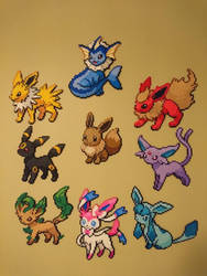Pokemon #31-38 - Eevee and all Eeveelutions by MagicPearls