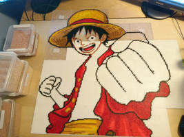 Luffy 3 - Starting to look like Luffy now! by MagicPearls