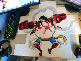 Luffy Gear Fourth 2 - Some good progress (WIP) by MagicPearls