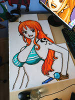 Nami 2 - Fiery orange hair and nice bikini! (WIP) by MagicPearls