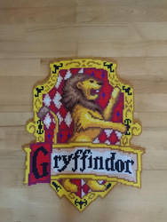 Gryffindor emblem/shield from Harry Potter by MagicPearls
