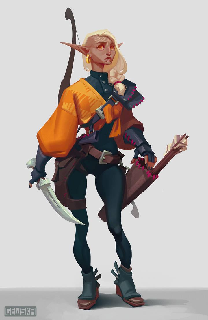 Ellana Character Design by gewska