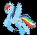 Reupload: Rainbow Dash, my style by Honeycrisp1012