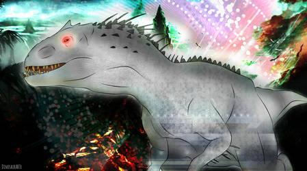 Indominus Rex by DinosaurArtx