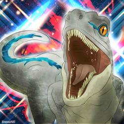 Blue The Velociraptor by DinosaurArtx