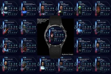 Mass Effect Watchfaces by Illusive-Design