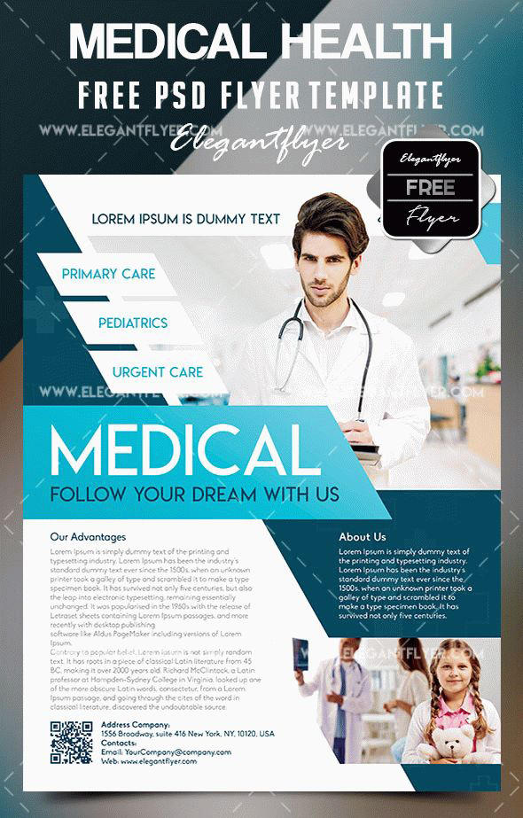 Free Medical Health Flyer Template By Dotsik On Deviantart