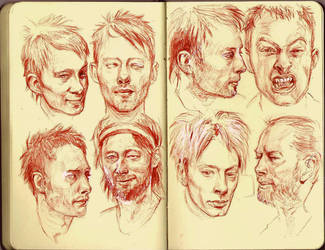 Thom Yorke sketches by CottonCandyTrip