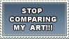 STOP comparing my art by Mona-sama